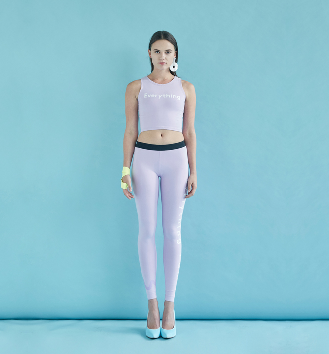 Set Tank Top Leggings Lilac